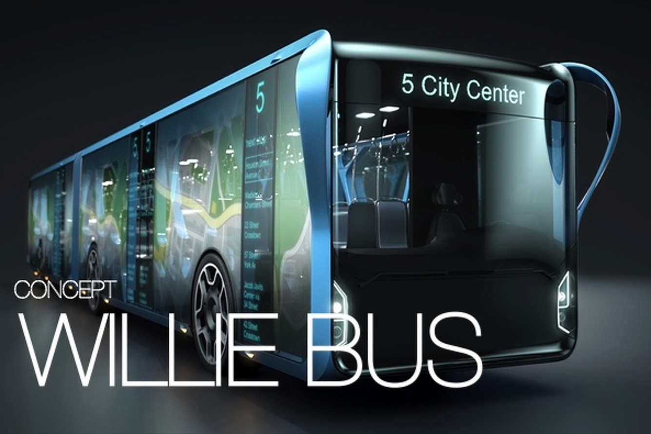 Willie Transparent LCD Bus: Public Transport for a New Generation