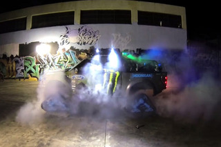 Ken Block Conquers Snow, Burns Rubber in his RaptorTRAX
