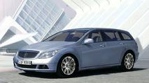 New Mercedes C-Class Estate computer image