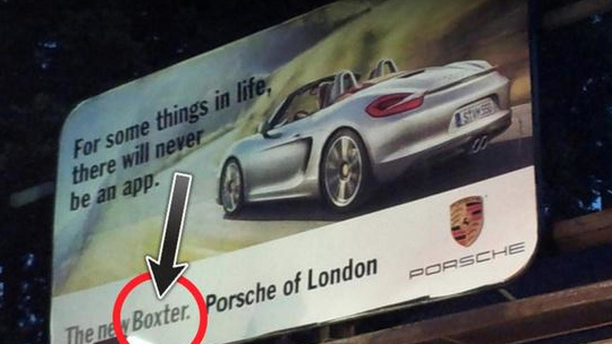 Porsche 'Boxter' revealed on London billboard