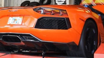 700 WHP nitrous Lamborghini Aventador hits the dyno [video]
