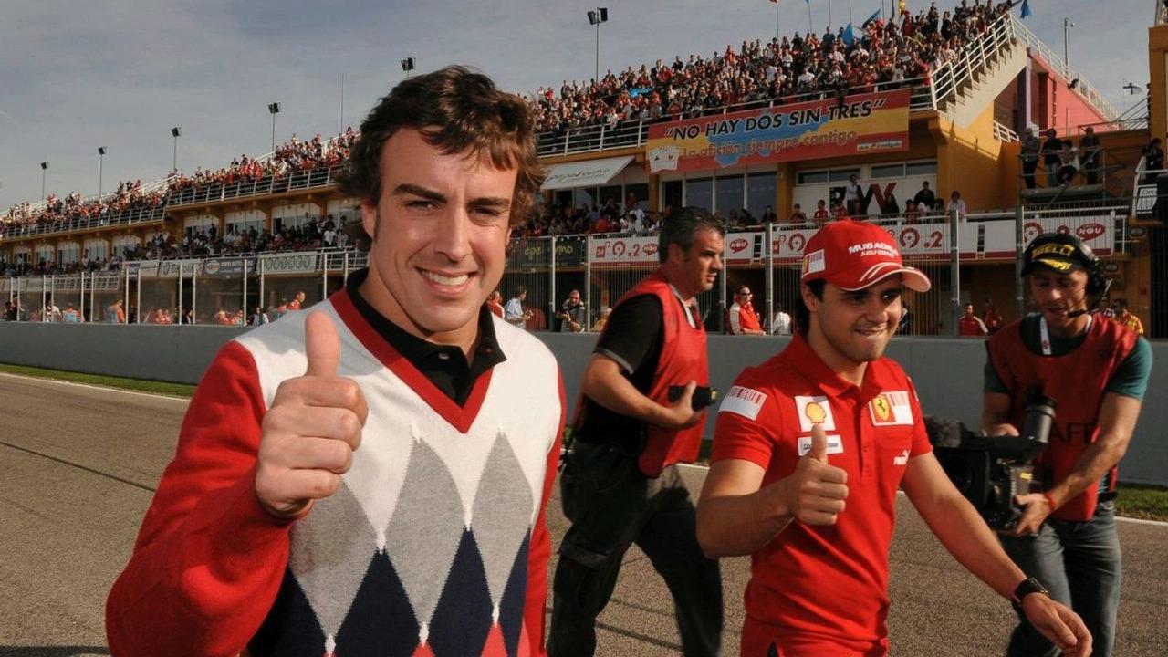 Fernando Alonso, Felipe Mass at Finali Mondiali Ferrari, Ricardo Tormo di Cheste circuit, Valencia, Spain, 15.11.2009