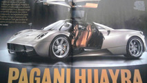 Pagani Huayra revealed via leaked magazine scans (photos updated)