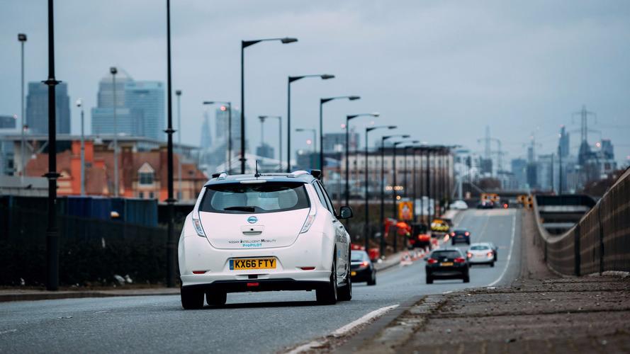 Des Nissan Leaf autonomes à Londres