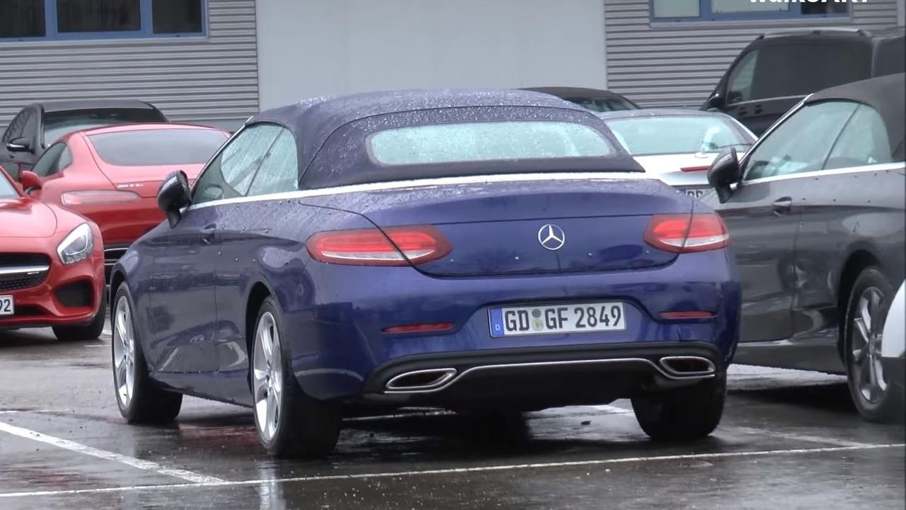 2016 Mercedes C Class Cabriolet spy photo