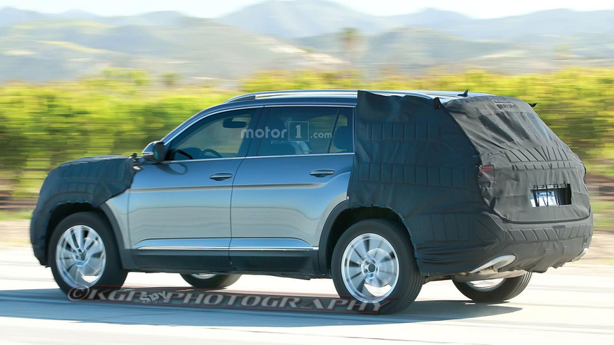 Upcoming VW three-row SUV spied in Arizona