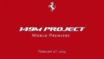 "Ferrari announces ""149M Project"" for February 12 reveal, related to the California"