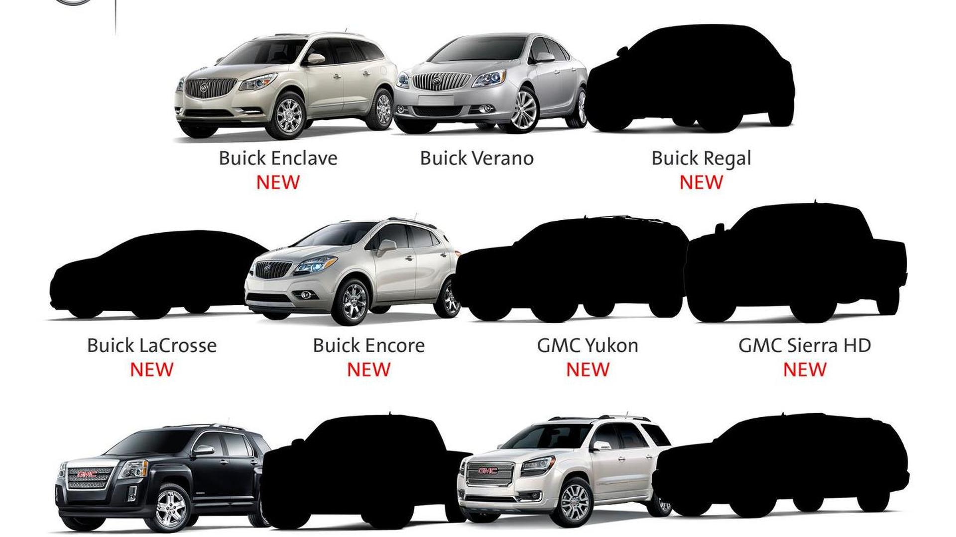 Buick & GMC tease six upcoming models