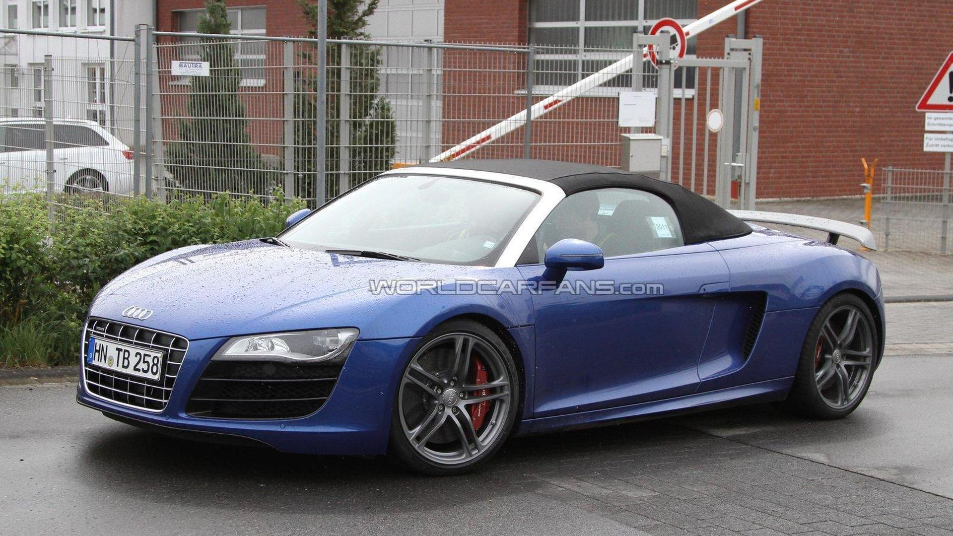 Audi R8 GT Spyder spied for first time
