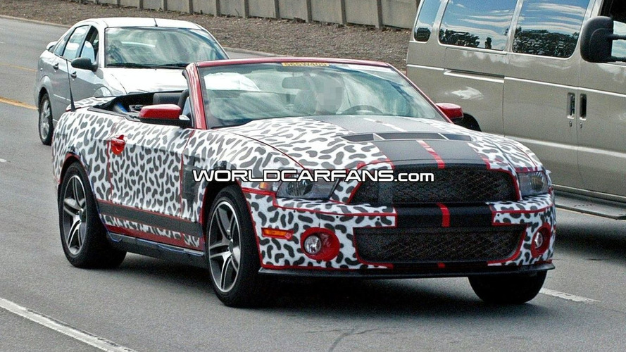 2010 Ford Shelby GT500 Convertible Spied with Top Down