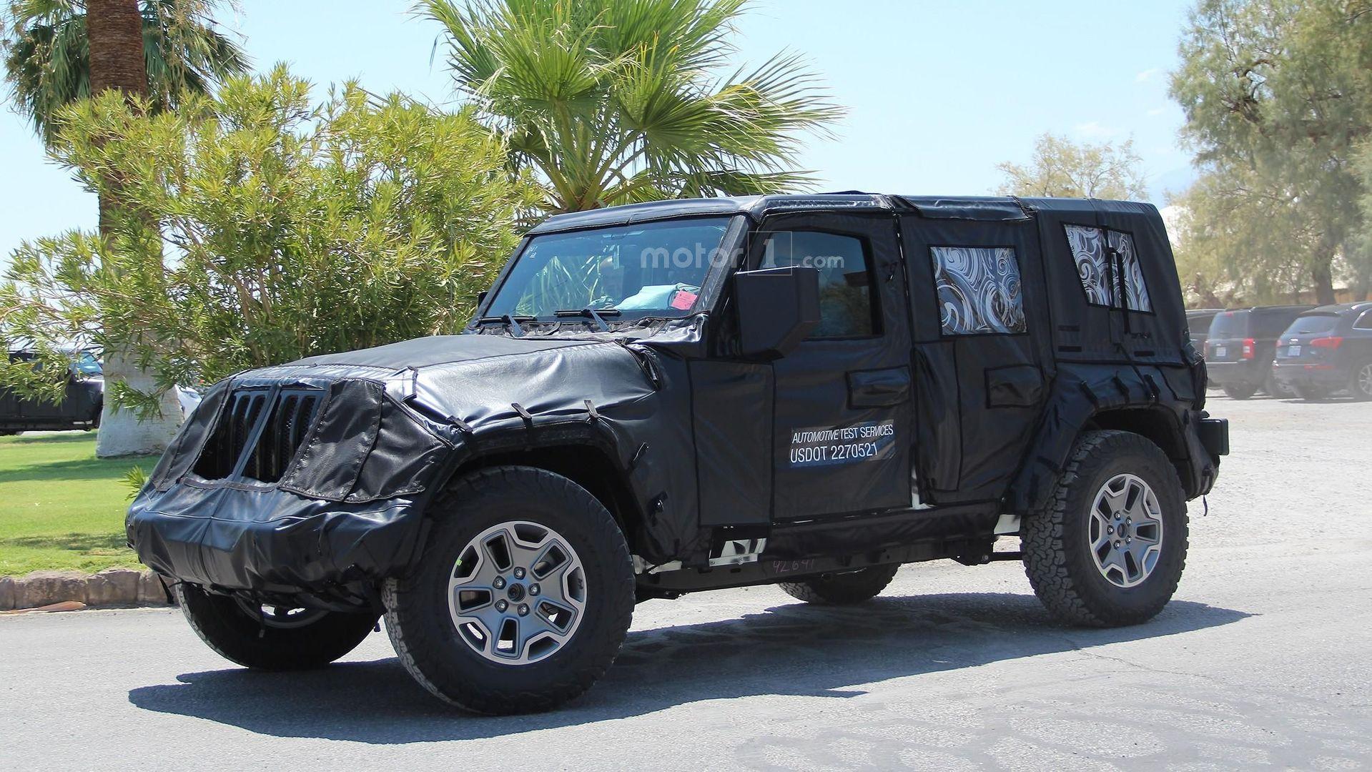 2018 Jeep Wrangler hides evolutionary design underneath thick camo