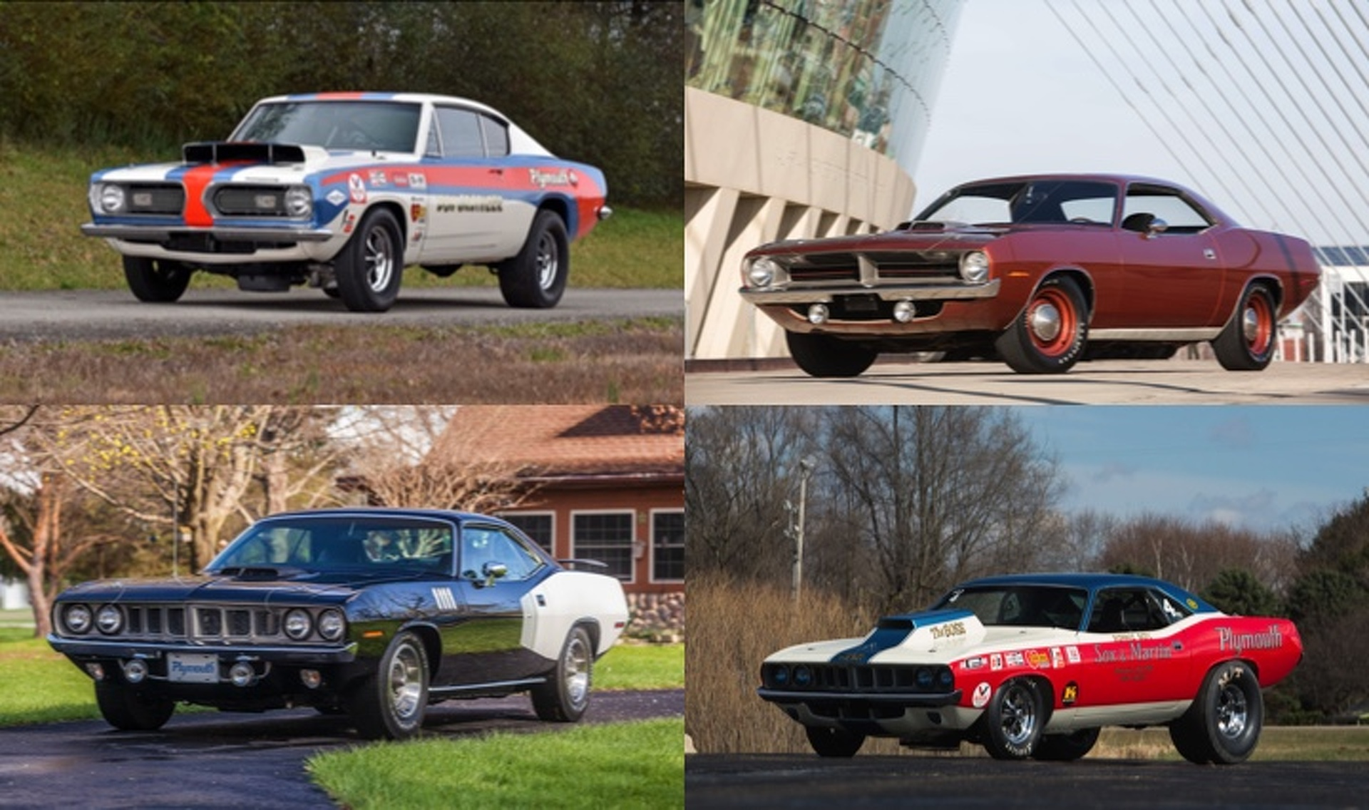 4 Historic Hemi Cudas Are Headed to Auction