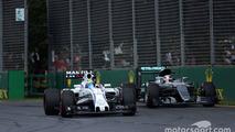 Felipe Massa, Williams FW38 and Lewis Hamilton, Mercedes AMG F1 Team W07