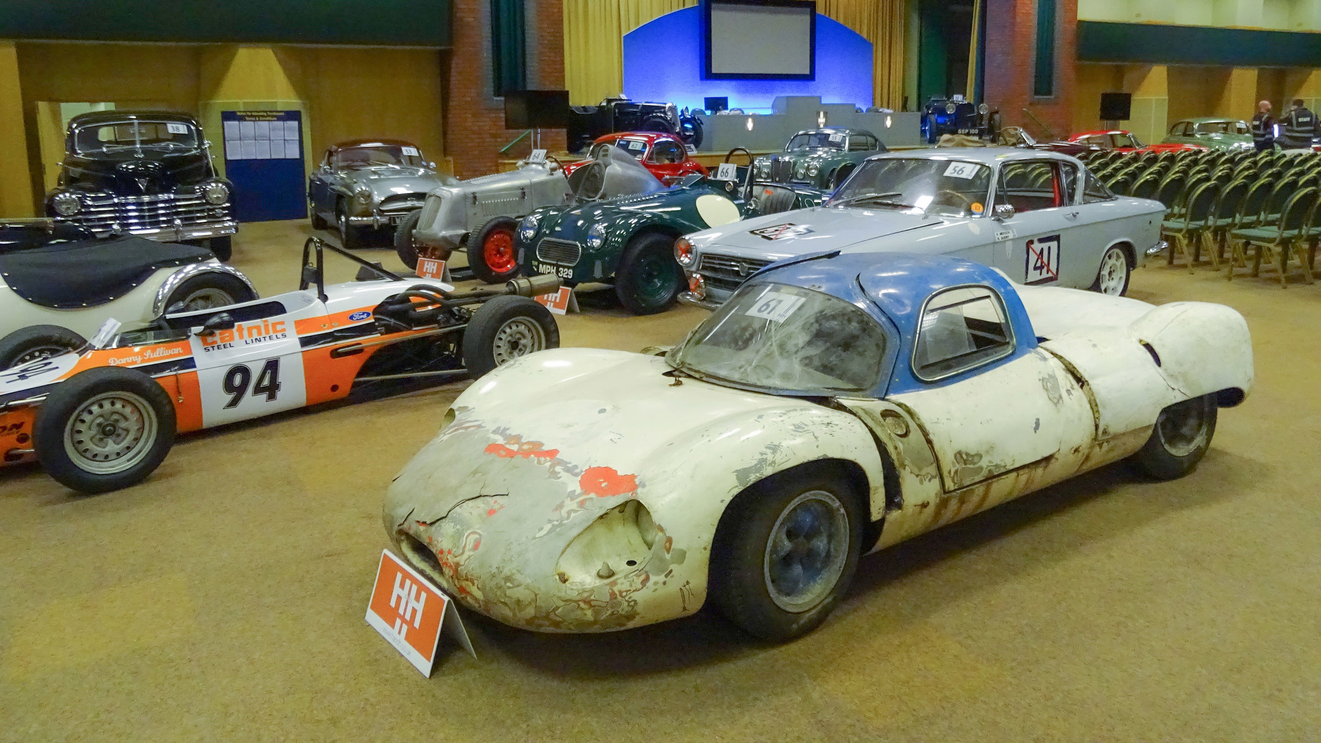 Barn-find British race car with wood chassis sells for $105k at auction