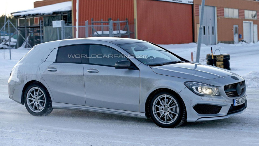 2015 Mercedes CLA Shooting Brake spied up close