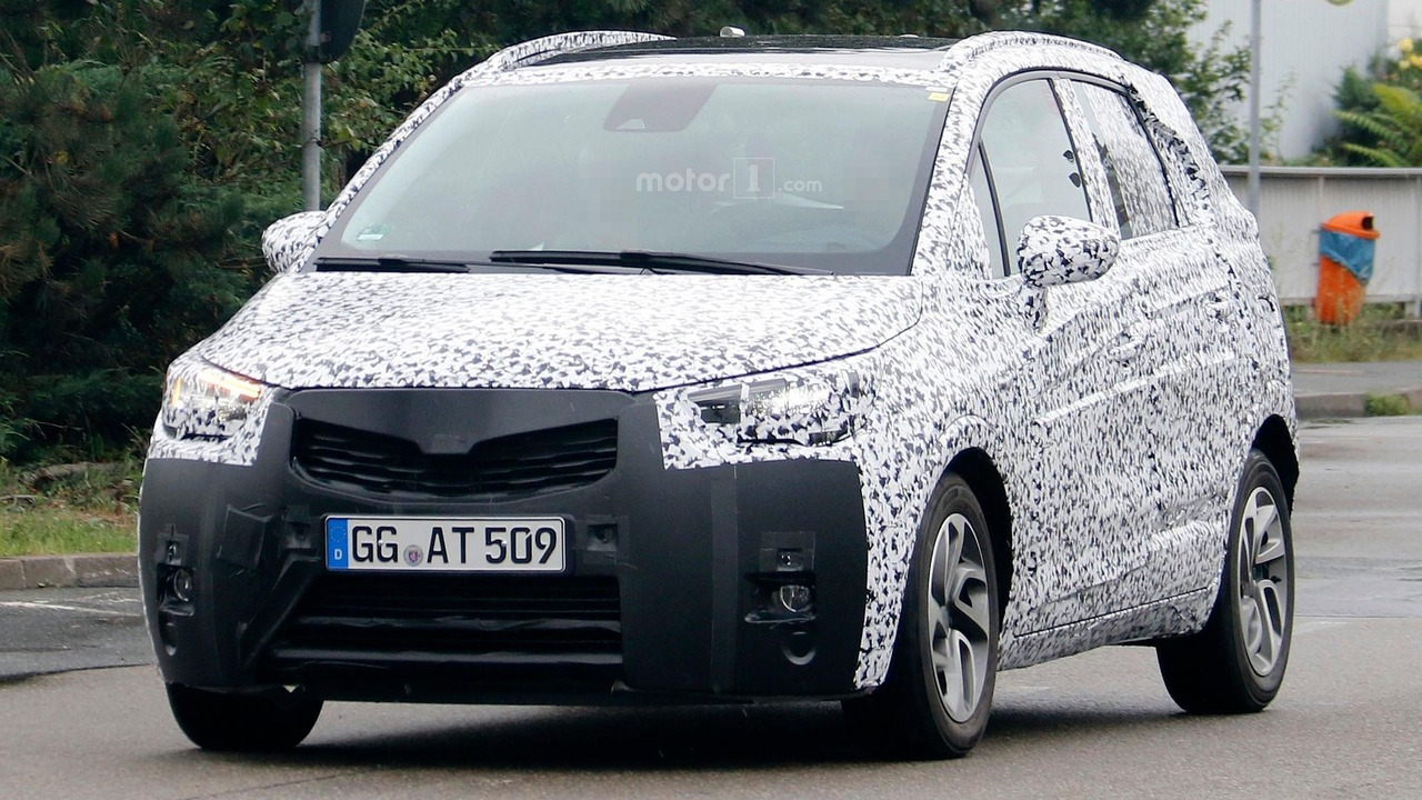 2017 opel meriva prototype has a generous ground clearance. Black Bedroom Furniture Sets. Home Design Ideas