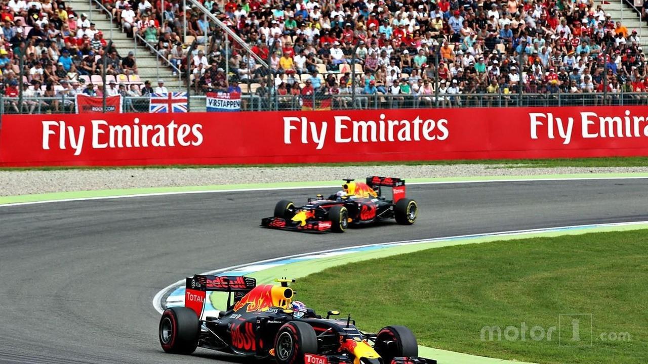 Max Verstappen, Red Bull Racing RB12 and Daniel Ricciardo, Red Bull Racing RB12