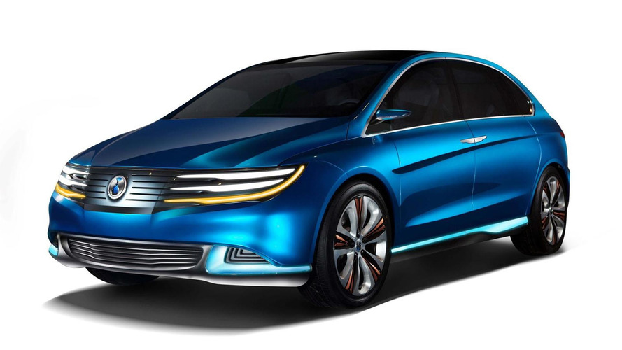 Daimler-BYD Denza EV concept unveiled in China
