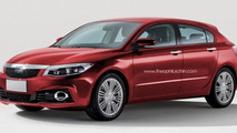 Qoros 3 hatchback speculative rendering