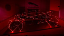 Jaguar laser display headlines London design show