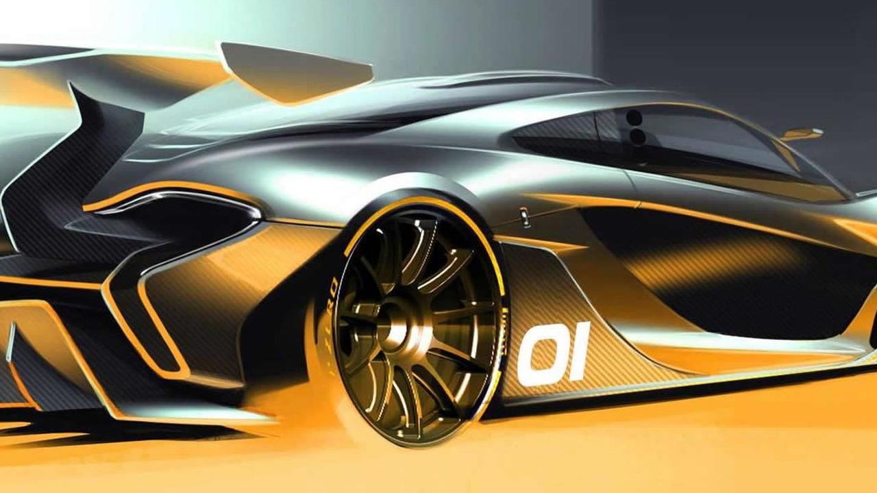 McLaren P1 GTR design concept sketch