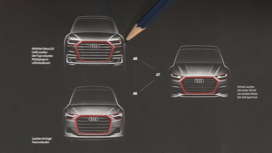New Audi A8, A7, A6 official sketch reveals evolutionary design