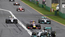 Lewis Hamilton (GBR) Mercedes AMG F1 W05 on the formation lap, 2014 Australian Grand Prix