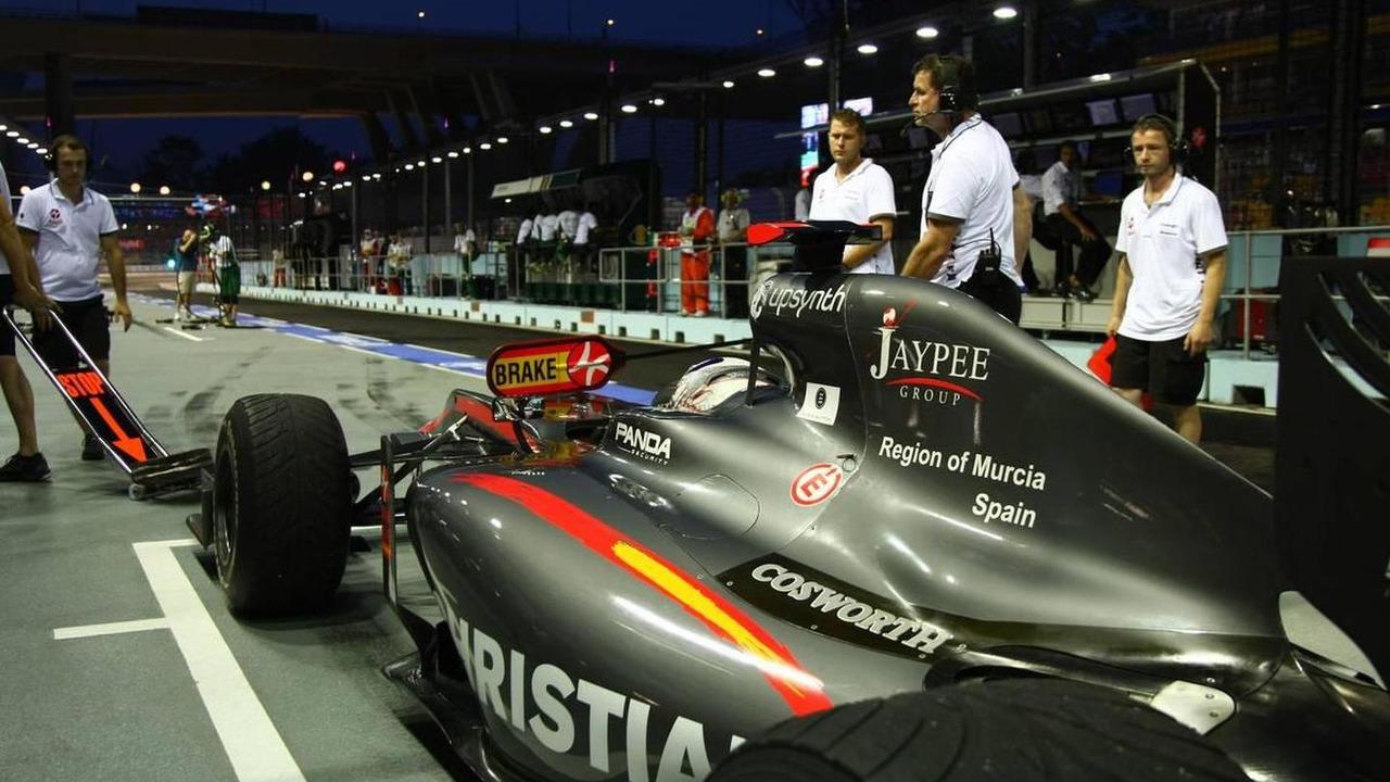 Christian Klien (AUT), test driver, Hispania Racing F1 Team, HRT - Formula 1 World Championship, Rd 15, Singapore Grand Prix, 25.09.2010