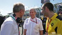 Guillaume Boisseau, Renault Group Brands Director with Dr Helmut Marko, Red Bull Motorsport Consultant and Cyril Abiteboul, Renault Sport F1 Managing Director