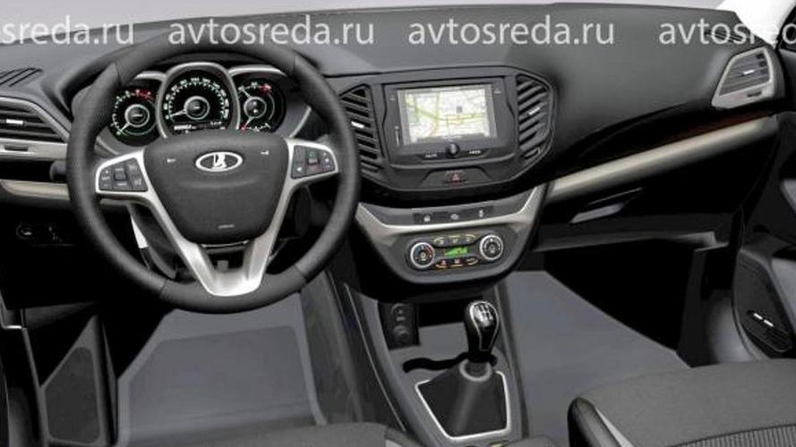 Production Lada Vesta official interior render leaked