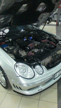Mercedes E-Class W211 stuffed with V12 by Speedriven