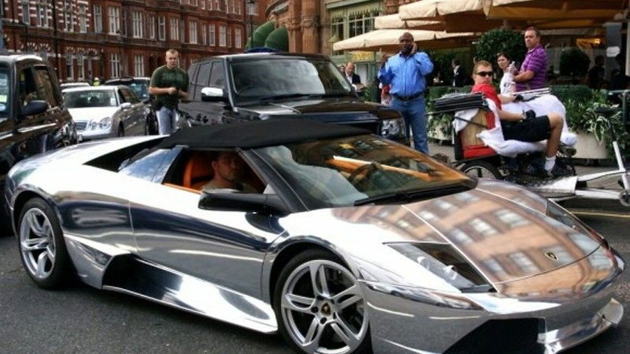 Lamborghini Murcielago with chrome finish
