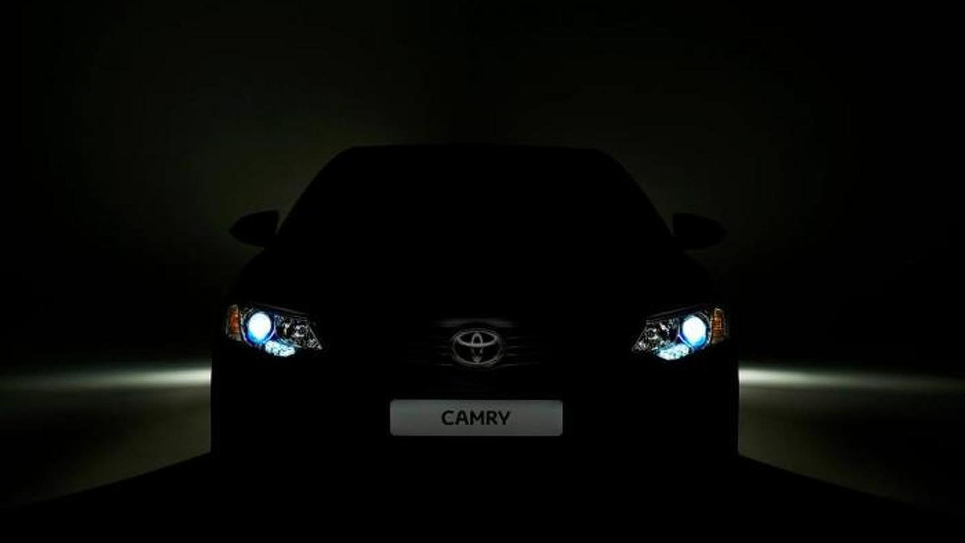 Toyota Camry facelift teased for Moscow