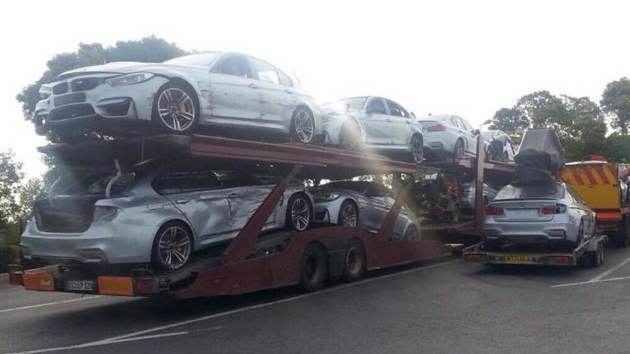 Damaged BMW M3s from Mission Impossible 5
