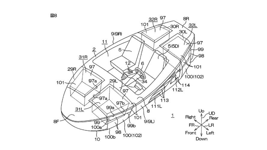 Yamaha amphibious car patents surface