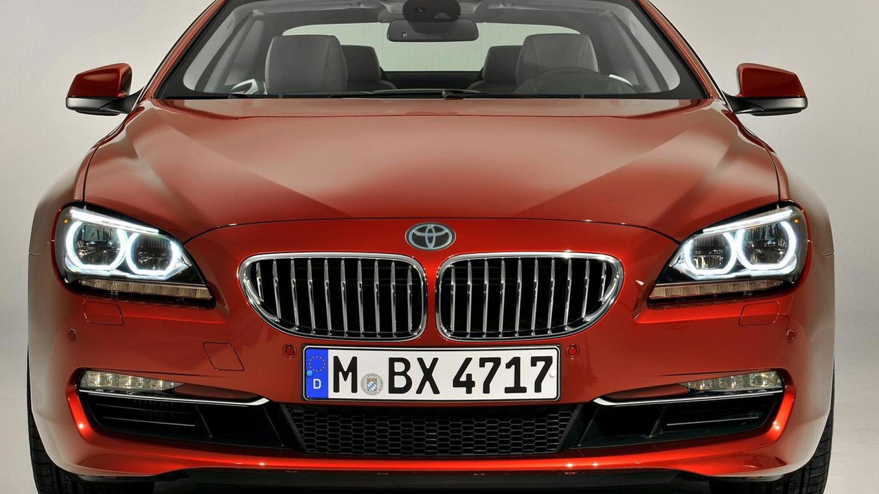 Mock up of BMW 6-series Coupe with a Toyota badge