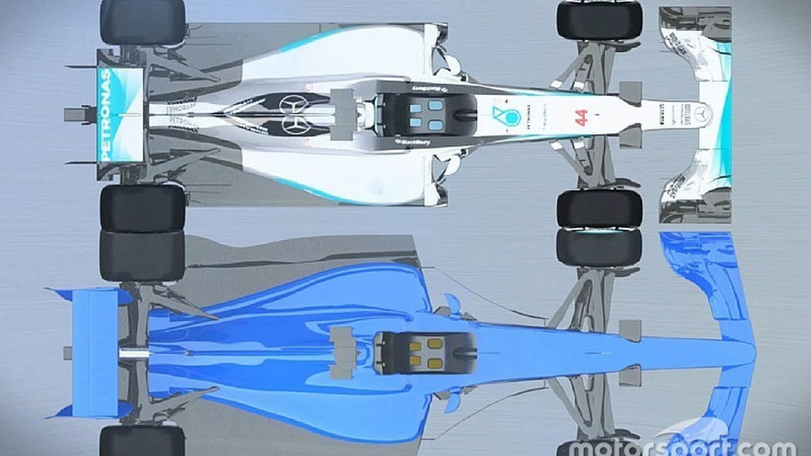 Video: F1's 2017 and current cars compared