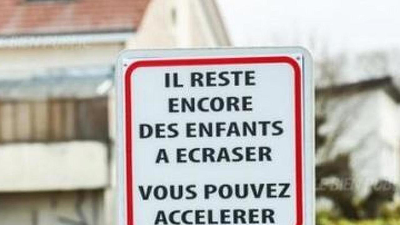 Traffic sign in Burgundy, France