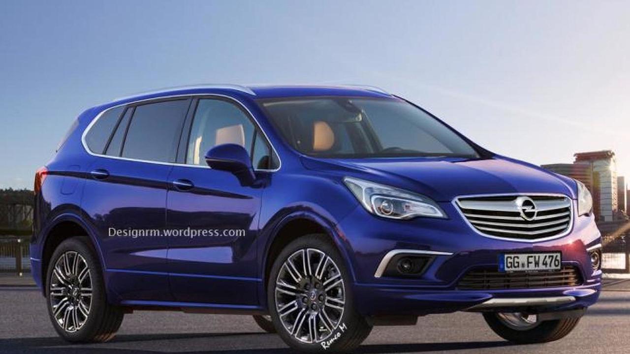 Next-gen Opel Antara artist rendering