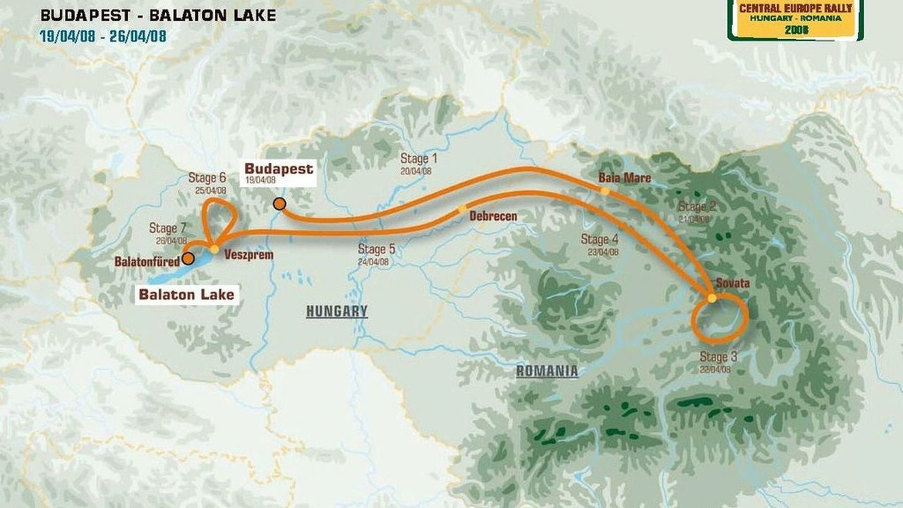 Dakar Central Europe Rally route map