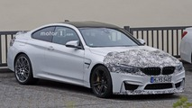 BMW M4 facelift and hotter prototype spied up close
