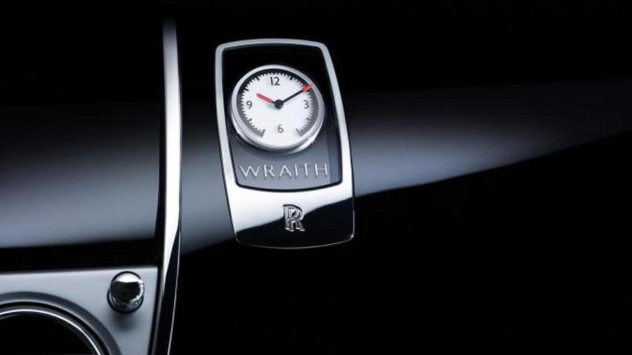 Rolls-Royce shows Wraith's door and dashboard clock