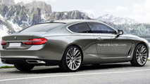 Flagship BMW 8-Series Coupe rendered with Gran Lusso Concept cues