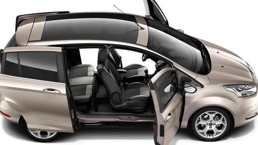 Ford B-Max sliding doors reveal pillarless design