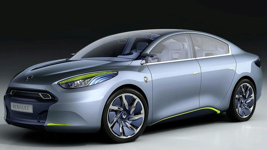 Renault Fluence Zero Emission Concept First Look