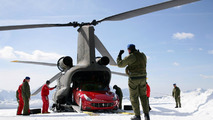 Ferrari FF tested by Markku Alen on a snow-covered forest stage [video]