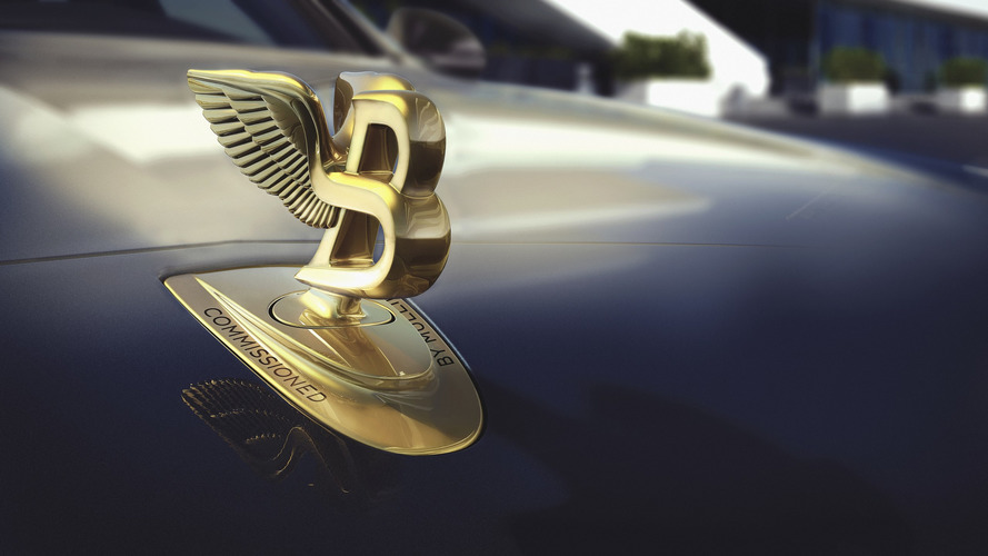 Nothing says opulence like a gold badge on a Bentley Mulsanne