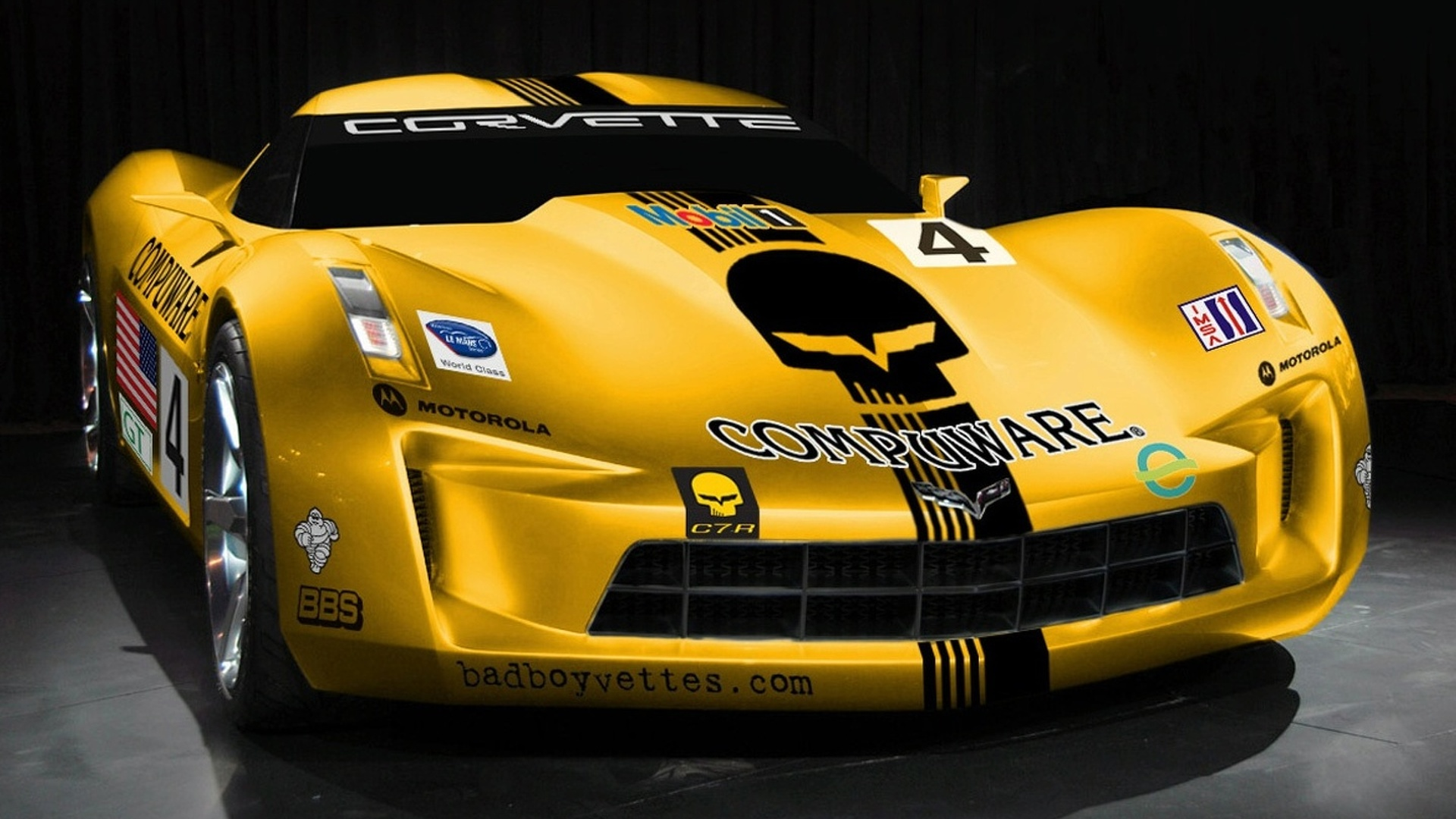 Corvette Stingray C7.R Rendered
