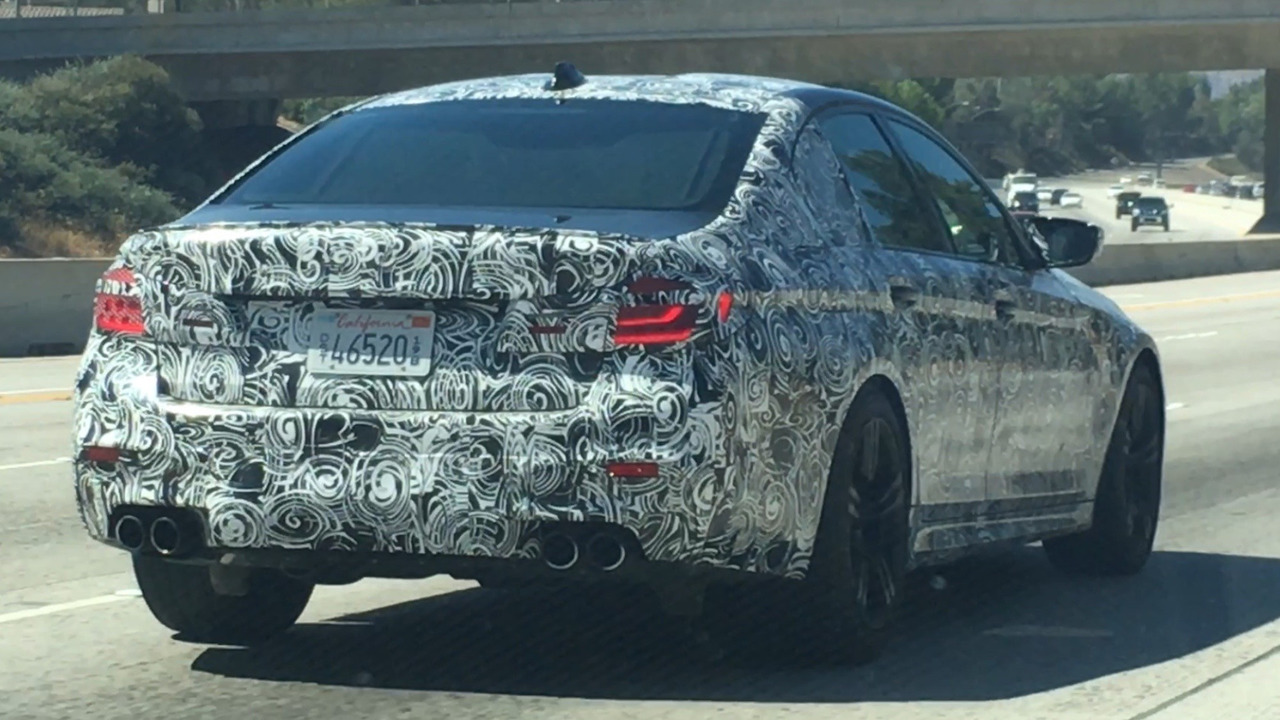 2018 BMW M5 spy photo from California