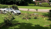 Father Hamilton Crashes Porsche Carrera GT